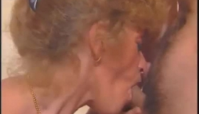 French Woman Is Wearing A Fishnet Blouse And Getting A Huge Cock In Her Tight Cunt