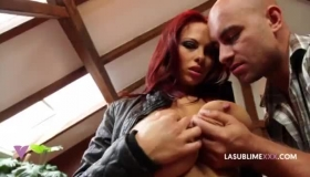 Busty Redhead Hooker With Nice Legs Sucks Cock And Gets Nailed.