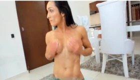 Fit Brunette With Big Milk Jugs Likes To Fuck Her Boyfriend's Best Friend, Once In A While.
