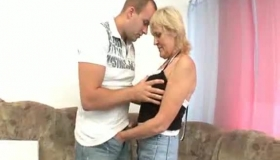 Slutty Granny Is Riding A Rock Hard Cock, While Her Husband Is Out Of Town, For The Weekend.