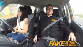 Driving Examiner Impaled On Cock