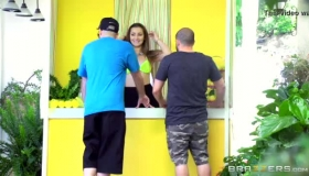 Dani Daniels Invites Her Neighbor Sit With Her