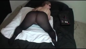Hot Blonde In Stockings Gets Anal Fuck In Lingerie
