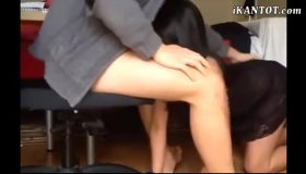 Incredibly Beautiful Asian With Black Hair Gets Her Hot Ass Fucked In The Ass