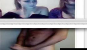 Horny CFNM Women Cram Sloppy Cumshots On Stripper Cock