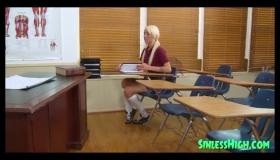 Slutty Schoolgirl College Girl Gets Pumped Hard