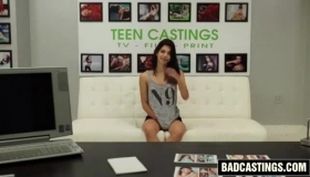 Sweet Teen Brunette, Haley Reed Likes To Suck A Big, Hard Meat Stick And Get Cum On Tits