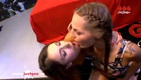 German Girl, Bibi Is Getting Fucked From The Back, Because Her Lover Can't Make Her Cum