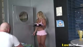 Jessica Lynn And A Horny Guy She Likes Are Doing It Once In A While, In Her Home