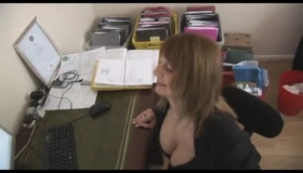 Shaved Pussy Secretary Gets A Cock In Her Mouth