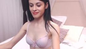 Gorgeous Hungarian Brunette With Perfect Boobs Rides A Rough Toy