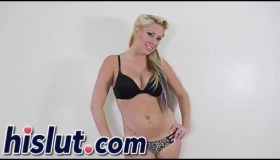 Kelly Leigh Blonde Shemale Jacks Off Wearing Panty