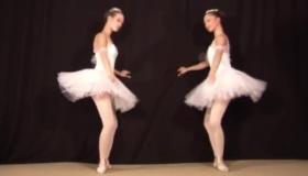 Caroling Brunette Ballerina Gives Head To An Agent