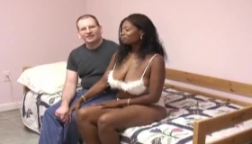 Young Whores Are Having A Nice Threesome With Their Horny Driver, On The Huge, St HF Bed