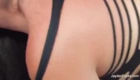 Jayden James Masturbates Her Stepbro With Her Moist Perky Tits And Turn Around Slip Into A Strapon Shoot!