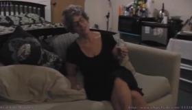 Granny Amateur Fucks Her Old Cunt, Pisses