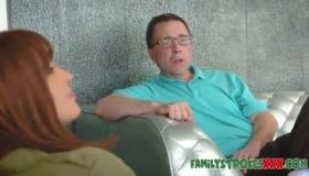 Teen Stepdaughter Seduces Hard Cock Stepdad