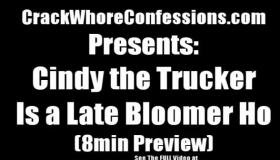 Naughty Trucker With Big Clit And Lusty Little Slit Blows Her Servant On Re Work Before Riding Very Hard Big Black Cock And Get Facial