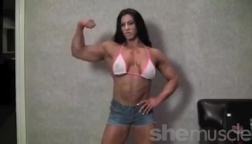 Female Muscle Stripper Getting Down For Dick
