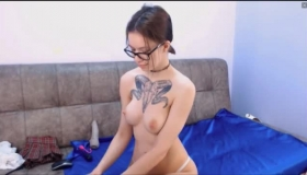 Tight Pussy Tattooed Latina Trans Gf Pounded And Facejizzed