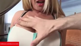 Hot MILF Mom Lets Son Fuck While Sleeping Babysitter