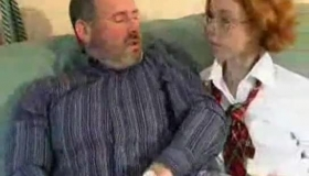 Mature Man Teaches Young Girl How To Do Finger Fuck