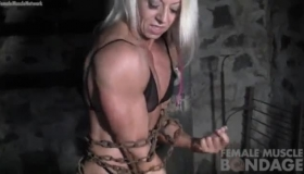 Female Bodybuilder Busty Bj Playing With Her Big Booty Sex Toy On Her Tanned Body