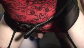Amateur Sis Pegging Son While Recording