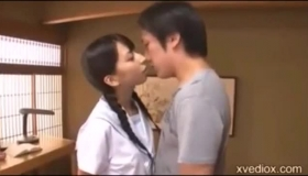 Japanese Girl Was Hired As A Maid And Was Lying In The Office, While Her Employee Was Fucking Her