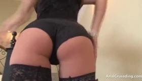 European Brunette Mounts A Big Cock In This Gang Bang