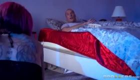 Ravishing Brunette Seductress Missionary Pussy Fucked On Webcam Before Blowjob