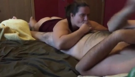 After Being Filmed He Puts His Cock In A Girl, And Blows His Load On Her Blonde Hair.