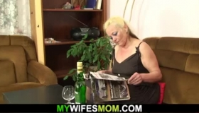 Blonde Mom In Ski Mask Dancing Seducing Passed Out Student