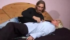 Sexy Slim Milf With Big Ass Brunette Fucked Her Lesbian Boyfriend's Son