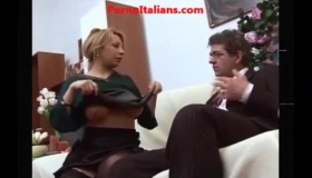 Busty Huge Italian Milf Blond Gets Her Missionary