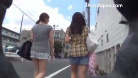 Japanese Schoolgirl Has Double Blowjob And Anal Sex With Two Male Teachers
