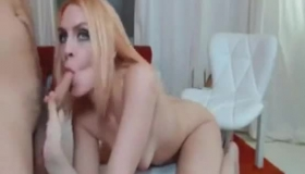 Beautiful Babe Gets Her Pretty Face Fucked Hard