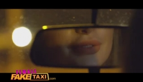 Female Fake Taxi Sexy Brunette Gf Gets Black Cock On The Driver Side Fucking Machine