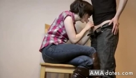 Bent Over Step Sis Fucks Stepbro For Computer