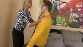 Naughty British Granny Leigh Enjoying Some Quality Time With Young Stud Kevin