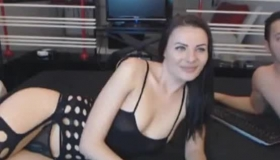 Brunette With Massive Tits Sucks Cock And Gets Fresh Cum All Over Her Balls And Face